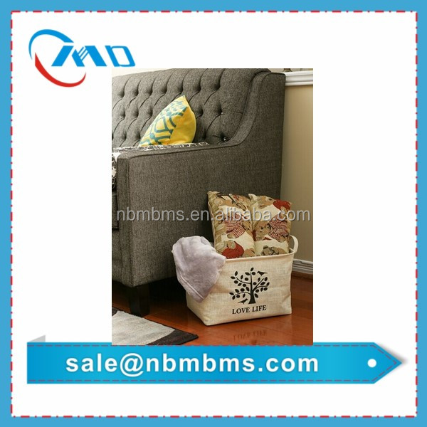 Hot Sale Fashionable Burlap Storage Basket