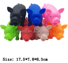 2018 toys plastic colorful medium size squeeze scream pig animal toy for kinds