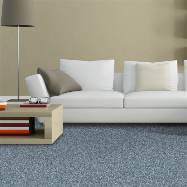 Cut Piles Check Pattern Mothproof Broadloom Carpet