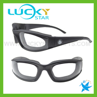Hot black Onion Goggles black Shatterproof High-quality Plastic No Tears Also Garlic Peppers NEW kitchen Gadget
