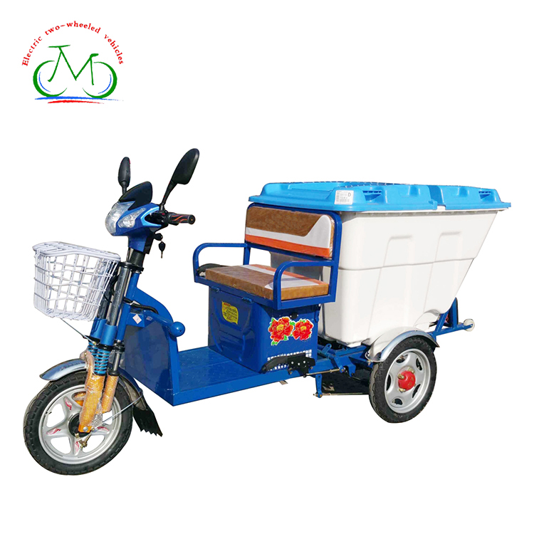 China Cargo With Cabin Durable Cargo 3 Wheeler Rubbish Electric Tricycle,Express Delivery Car