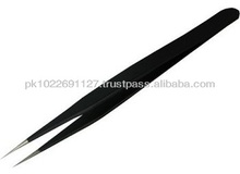 Black Pointed Eyelash Extension Tweezers,best quality eyelash extension tweezers