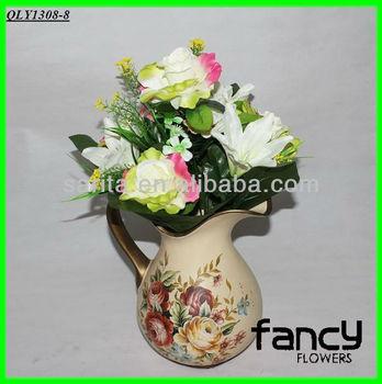 12 heads rose mixed lily artificial walmart wedding decoration flower making buy wedding. Black Bedroom Furniture Sets. Home Design Ideas
