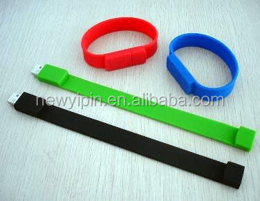Silicone Band Bracelet Wristband USB Flash Memory Drive 4GB 8GB 16GB Capacity
