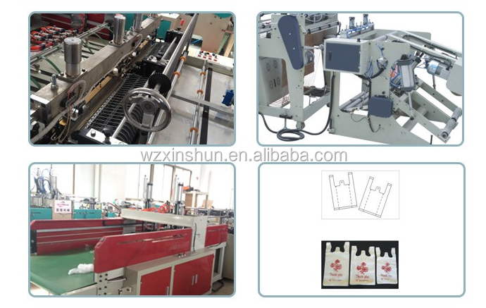 Ruian Xinshun New Technology High Speed Shopping Bag Making Machine/t shirt bag making machine/carry bag making machine