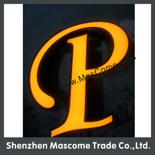 special black Acrylic white light Signs 3D LED Channel Letter