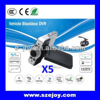 Portable EJ-DVR-X5 HD Dual-lens 720p Auto video camera