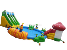 Kids and adults giant inflatable water park with large inflatable pool from China Guangzhou inflatable factory