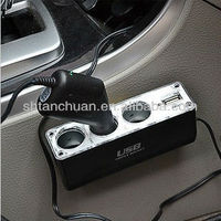 3 way car socket,car cigarette lighter socket car adapter plug,multiple plug socket