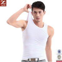 oem fashion design plain white man vest tops for sale