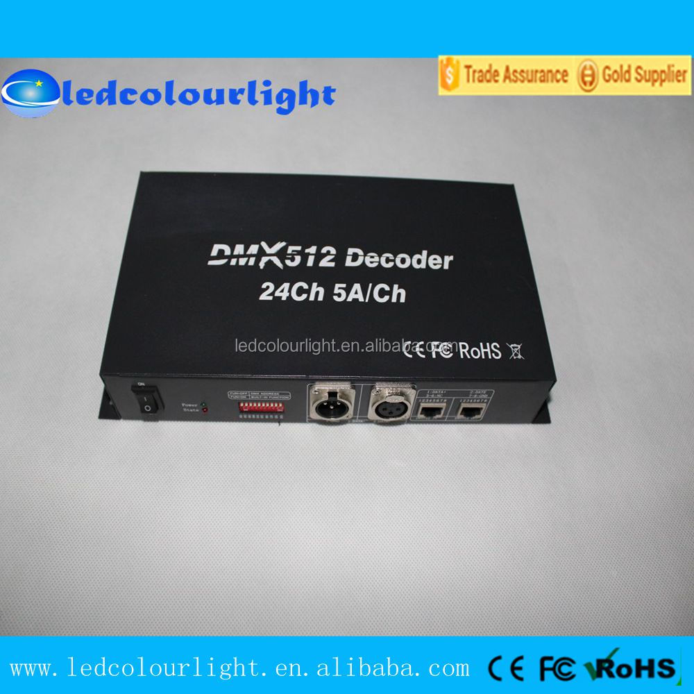 PWM IC RGB LED strip DMX LED decoder controller wholesale