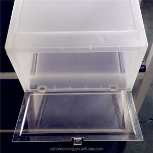 Cheap Clear Custom Plastic Drop Front Shoe Box for Sneaker