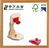 high quality china FSC natural boy wooden Crafts wood basketball toys for child