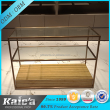 Retail wood clothes display table,clothes table shop decoration
