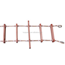 New best quality nylon wooden rope ladder with ccs