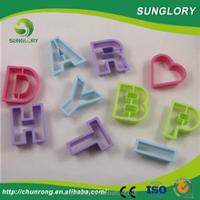 High Quality alphabet letter cookie cutter