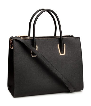Italian designer classical black women leather tote handbags