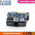 LV12 1D CCD OEM Barcode Reader Module For Vending Machine, RS232/USB/KB Interface