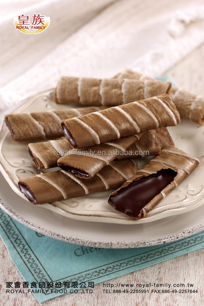Wafer Roll Biscuit with Premium Chocolate Filling