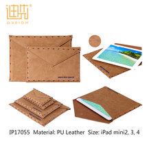 Customzied easy carrying simple soft PU Leather Material tablet pc case for ipad mini 2/3/4