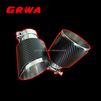 63mm- 101mm Sport Real Carbon Fiber Quad Exhaust Muffler Tips Pipe for AK Style