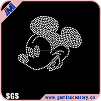 Cartoon mouse rhinestone iron on transfer for baby clothes