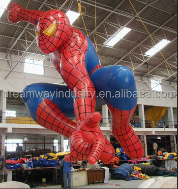 2016 hot sale giant inflatable spider man ,inflatable super hero for advertising