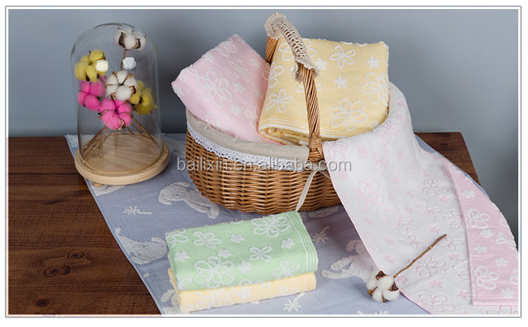 antibacterial customized towel with cotton material free sample