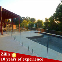 316s.s glass clamp frameless glass railing for swimming pool double glass