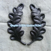 Forged and Cast iron wrought iron steel ornaments flowers & leaves