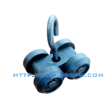 China newest style double wheels wire rope pulley block