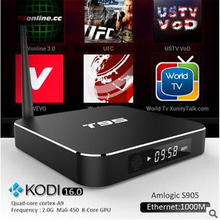 Newsunda octa core M10 ott m10 firmware android tv box with high-end configuration Amlogic S812 CPU dual band wifi metal case.