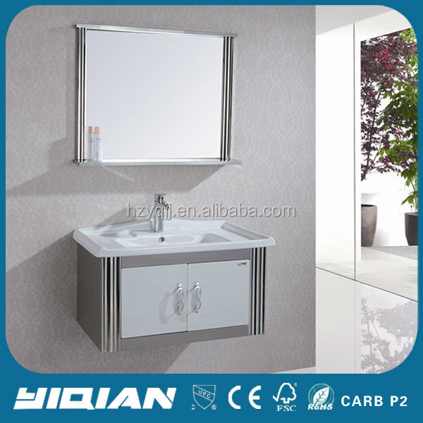 Modern Two Door Wall Hanging Vanity Bathroom Stainless Steel Mirrored Furniture Ideas