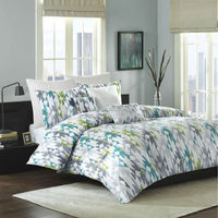 Ink & Ivy Sierra Mini Comforter Bedding Duvet Bed Set Green