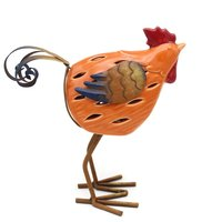 Metal Ceramic Rooster For Home And