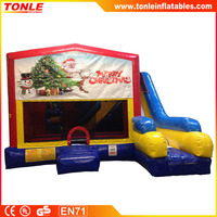 5 n 1 Christmas w/ Tree inflatable Bounce slide Combo, infaltable jumper with slide