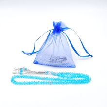 Royal blue gift bags cheap personalized gift bags for crystal rosary silk organza bags