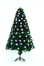2 ft to 7 ft PVC color changing LED Christmas tree with Plastic star ornament