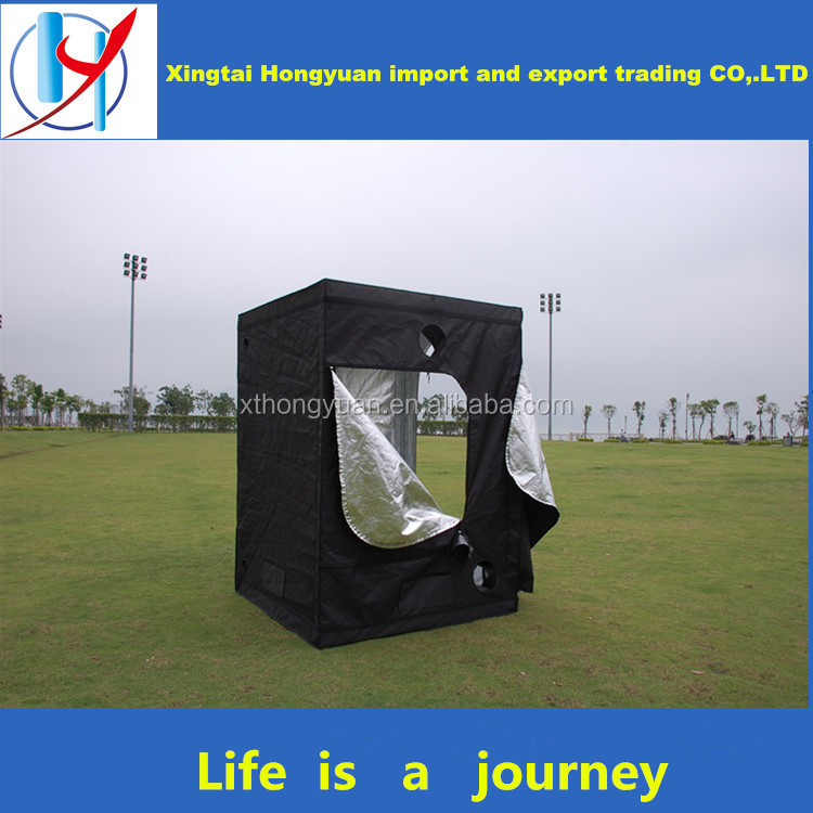 hot sell in china high qualtiy 600D black hydroponic mylar grow tent poly house