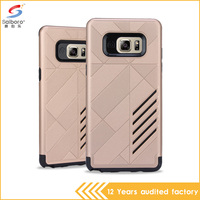 mobile phone accessories gold color shockproof phone cover case for samsung galaxy note 6