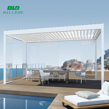 aluminum electric easily assembled metal water resistance pergola