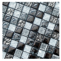 1 x 1 inch Fancy Glass Mix Stone Mosaic Home Decor (KGS20120086)