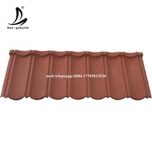 San-gobuild Black& Red Color Stone Coated Metal Roof Tile
