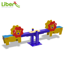 Stock Outdoor Playground Wooden Seesaw for Kids