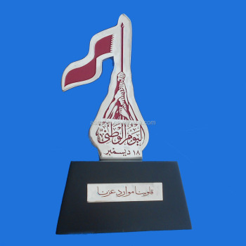 2017 hot sale product for Qatar country holiday for gifts or souvenir trophy