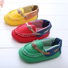 OEM baby boys shoes cute baby boat shoes canvas