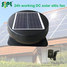 15 to 30 watt 12 or 14 inch 18V thermostat heating reversible exhaust fans green fan hot air exhaust fan solar roof vent