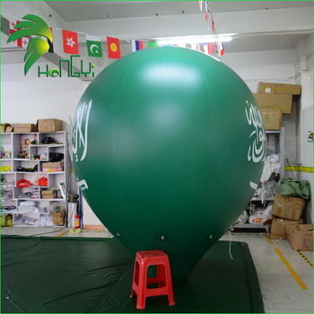 Helium Floating Printed Balloons / Inflatable Advertising Conical Ball for Parade