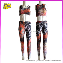 Hot sale fashion women fitness clothes yoga apparel dry fit sports bra and yoga leggings