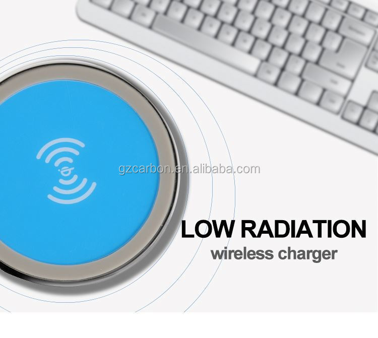 Wireless charger on desktop, aa battery emergency mobile phone charger